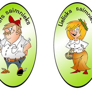 karikatūra reklāmai